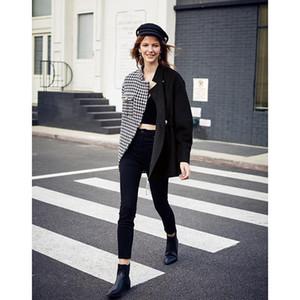 AEL Asymmetry Blazer casual Woollen jacket coat autumn winter fashion swallow gird based ladies fashion wear 2020 new
