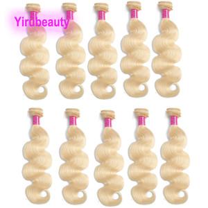 Indian Virgin Hair Hair 10 paquetes Blonde Body Wave 613 # Cuerpo Tejidos Doble trama diez piezas / lote Extensiones de cabello al por mayor