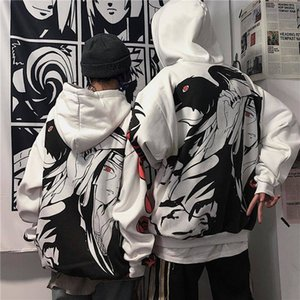 oversized Anime Naruto women Hoodies Streetwear Couple Coat Fashion Loose Cartoon Sasuke Japan Hoodie Sweatshirt Hoodie Womens 201022