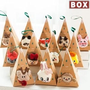Thermal Fluffy Women Men Box Christmas Gift Cute Fuzzy Soft Velvet Thermo Sleep Sock Deer Thick Warm Winter New year Socks
