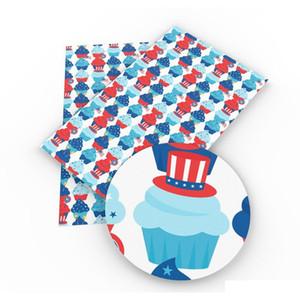 20 * 34cm de crème glacée boissons gâteaux Série d'été Synthétique cuir bricolage artisanat à la main pour sac de téléphone 3704 r9i2w