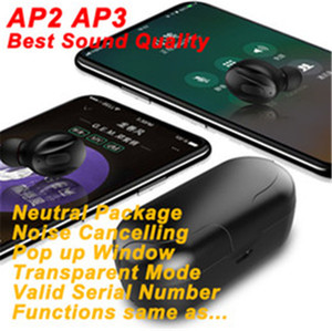 İyi Kalite H1 Kulaklık Chip GPS yeniden adlandır Hava AP 2 AP3 tws Gen 3 Bakla Pop Up pencere Bluetooth Kulaklık Kablosuz Earbuds Şarj pro Pro