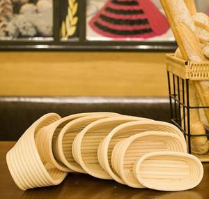 Panier d'épreuve de pain Indonésie Rattan Tissé Européenne Fermentation Bol Cuisine Outil de cuisson rond Dough Moule Ovale Tisser SQCYUHV