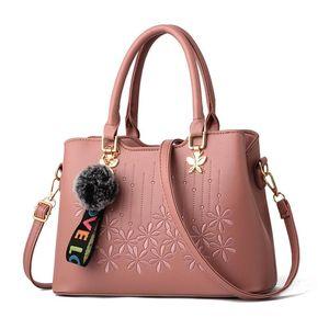 Women Handbags Patchwork HandbagLadies Hand Bags Crossbody Bags For Women Bags For 2020 Woman Tote Bag Pink Color