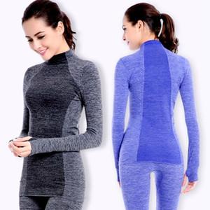 جديد الحرارية التزلج داخلية مجموعة النساء الشتاء تراكسويت سريع الجافة عالية مرونة طويلة الملابس الداخلية الحرارة الدافئة قطعتين مجموعة T200916