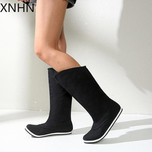 Knee High Boots Winter Warm Shoes Women 2020 New Women Snow Boots Plush Inside Good Quality Thigh High Zapatos