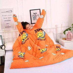 Winter Lazy Quilt with Sleeves Winter Quilt Home Bedding Comforter Printed Creative Keep Warm Autumn Duvet with Filling1