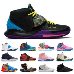 Alta calidad CNY IRVING 6 hombres zapatos de baloncesto Piscina vasta gris disparo reloj criado once curan el mundo Aqua para hombre entrenador deportivo zapatillas deportivas