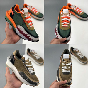 2020 Sacai x LDV Waffle Daybreak Shark mouth Mens Running Shoes Cashew nuts Trainers Women Outdoor Sport Sneakers des Chaussures Zapatos