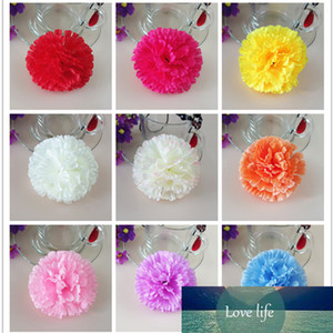 13color 9cm 100pcs Artificial Simulation Artificial Silk Carnation Flower Heads Mother's Day DIY Jewelry Findings Headware