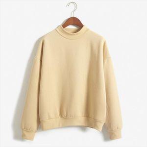 Wholesale Cute Women Hoodies Pullover 9 Colors 2020 Autumn Coat Winter Loose Fleece Thick Knit Sweatshirt Female S 3xl