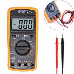 1PCS LCD multimetro digitale DT9205A AC / DC amperometro Corrente Resistenza Tensione Capacità Volt Amp Ohm Meter con il tester della sonda ziwY #