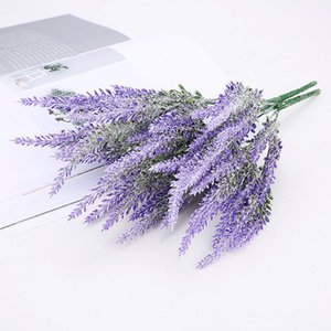 Romantic Artificial Flowers Grain Decorative Simulation Of Aquatic Plants Provence Decoration Lavender Flower SilK