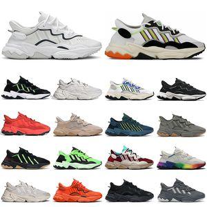Yeni Ozweego Erkekler Koşu Ayakkabıları Kadın Eğitmenler Çığlık Yeşil Güneş Sarı Teknoloji Mineral Gurur Soluk Çıplak Bulut Beyaz Erkek Açık Spor Sneakers