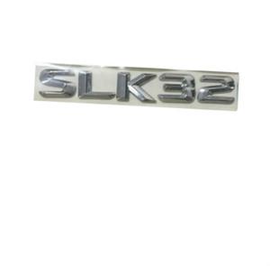 Krom Parlak Gümüş ABS Araba Gövde Arka Numarası Mektuplar Kelimeler Rozeti Amblem Çıkartması Sticker Mercedes Benz SLK32 AMG için
