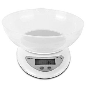 Nuovo 11lb / 5kg preciso Digital Kitchen Bilancia elettronica a LED con rimovibile ciotola cucina del ristorante Alimento Peso strumento di misurazione 66CY Y200531