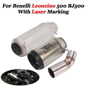 Sistema de escape de motocicleta Tubo Tubo conector de enlace de punta del silenciador de escape de escape Heat Shield cubierta Para Benelli Leoncino 500 BJ500