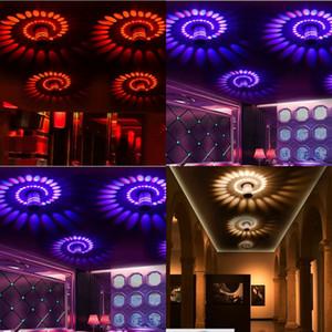 Lâmpada de parede de alumínio LED RGB mini 3w forma espiral poroso corredor corredor quarto quarto decorar luzes 9 9dn j2