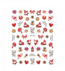 2020 السنة الجديدة الشتاء عيد الميلاد ملصقات مسمار مسمار الفن زينة الأظافر اكسسوارات عيد الميلاد هالوين مائي NEW