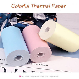 Colorful thermal sticker label paper roll 57* 30mm clearly printing for PeriPage A6 and PAPERANG P1 P2 mini pocket photo printer1