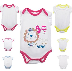 Blank Sublimation Newborn Baby Rompers DIY Thermal Transfer Heat Print Jumpsuit Bodysuit Boys Girls Pants Toddler White Solid Outfit F102205