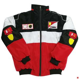 F1 Гоночный костюм Европейский и американский стиль в колледже стиль повседневная хлопчатобумажная одежда зимняя куртка прилив бренд полная вышивка ретро хлопковое пальто