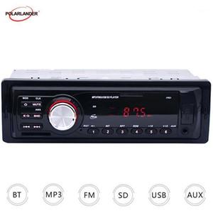 دعم FM USB / SD / MMC Reader Radio Car Radio Player Audio Player في Dash Car Electronics 12 V Radio LED Display1