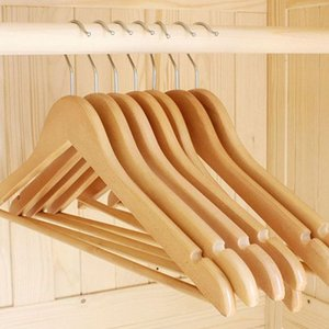 First class wooden hanger Real wood hanger Clothes hanger for adults and children Wooden hangers are non-slippery Pants clip