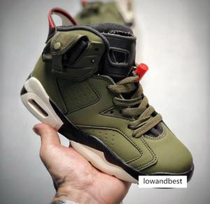 2020 Travis Scott J6 ar vôo Crianças sapatos menino juventude menina do esporte criança correndo botas de basquete tamanho da sapatilha 28-35