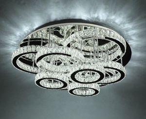 Modern LED Lampadari Lampadari Lampada da soffitto in cristallo in acciaio inox per soggiorno Camera da letto Diamond Ring LED Lustri lamparas de Techo