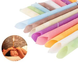earwax candles hollow blend cones beeswax cleaning natural aromatherapy ear wax removar ear care tools healthy therapy