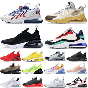 nike air max airmax 270 react eng Wholesale 2020 Free Run 270 React Eng 남성 여성 운동화 스포츠 테니스 선인장 산책로 Bauhaus Blue White Black Bleached Trainers Sneakers