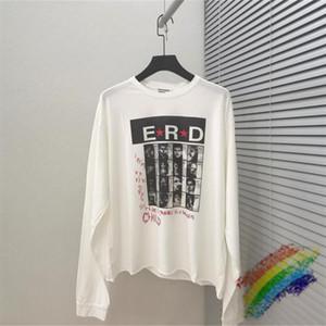 T-shirt oversize ERD 1: 1 di qualità superiore Streetwear maniche lunghe T-shirt bianca Vintage E.R.D maglietta