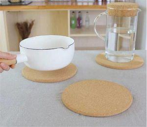 Doğal Mantar Coaster Isıya Dayanıklı Kupa Mat Kahve Çay İçecek ahşap placemat bulaşığı Mutfak Dekorasyon