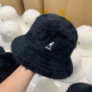 wxzsK seau seau Kango kangourous Yaya voile d'étanchéité avec les cheveux de lapin INS chapeau de peluche pêcheur Yang Mi Wu Yifan même chapeau kangourou