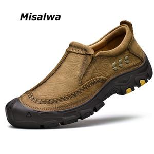 Misalwa de alta qualidade homens mocassins Genuine vaca couro ao ar livre anti-derrapante pai sapatos anti-colisão mens sapatos tamanho casual 45 46 T200610