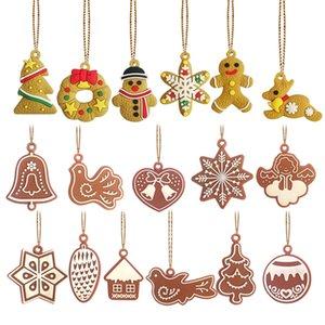 Рождественские украшения украшения колокольчиков птиц снежинки в форме Xmas дерево орнамента pandant для партии домой рождения декоративного GWC2874