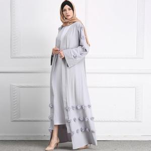 Plus Size Kimonos Ropa Mujer Verano 2021 Spring Abaya Muslim Women Letter Long Floral Maxi Kimono Cardigan Turkish Islamic Clothing