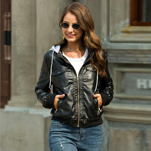 Winter Jacket Women Pockets Motorcycle Jackets Women Autumn Coat Long Sleeve Bomber Jacket Female Outerwear Coats