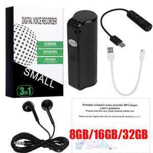 Nuovo 8 GB 16 GB 32 GB Q70 Mini Recorder Digital Portable Recorder USB Professionale HD Redduzione Registrazione Dictaphone Audio Recorder Player MP3