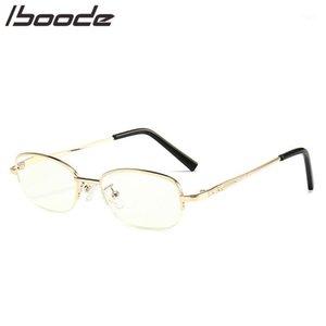 Iboooe Metal Yarım Çerçeve Okuma Gözlükleri Vintage Klasik Kare Presbiyopi Gözlük Kadın Erkek Hipermetrop Gözlük Anti Mavi Işık1