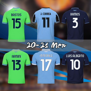 2020 2021 LAZIO BIANCOCELSTI Fussball 120th Jerseys Luis Alberto Immobile Sergej Vestiti da Calcio Herren Retro Football Hemd
