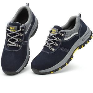 Stivali da trekking da uomo scarpe da lavoro impermeabili Scarpe da salotto composito resistenti alla punta traspirante per la costruzione industriale LJ201028