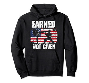 Earned, Not Given! Karate Fighter, Martial Arts Hoodie Unisex Size S-5XL with Color Black Grey Navy Royal Blue Dark Heather