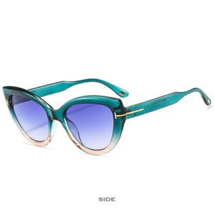 Sexy Ladies Cat Eye Sunglasses Fashion Women Brand Design Small Frame cat Eyewear Water Drop Shape Sunglasses Female ES2018