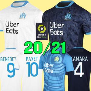 19 20 Olympique de Marseille camisa de futebol camisas OM 2019 2020 camisa de futebol PAYET THAUVIN camisa de futebol de 120 anos 120º aniversário