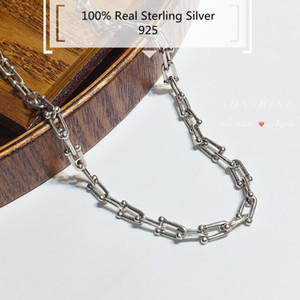 Imves Sterling Silver girocolli Classic Hardwear collana nuove signore Coppia di personalità Cadenas De Plata S925 Mujer Bijoux Femme