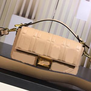 Women Shoulder Bag Handbag Lady Genuine Leather Purse Fashion Textured Leather Plain Letter Sheepskin Hasp Wide Shoulder Strap Bag