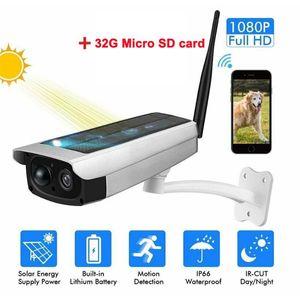 Outdoor Solar Powered Wireless WIFI Camera 1080P HD Night Vision CCTV IP Camera PIR Home Security Surveillance Webcam
