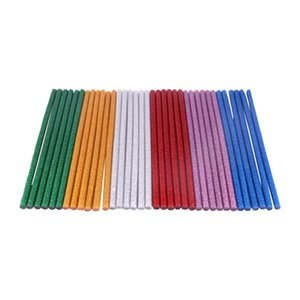 Hot Glue Sticks Colored Glitter Hot Melt Adhesive Glue Sticks Mini Size For Arts Crafts Diy Home General Repair Crafting Project 7mmx100mm